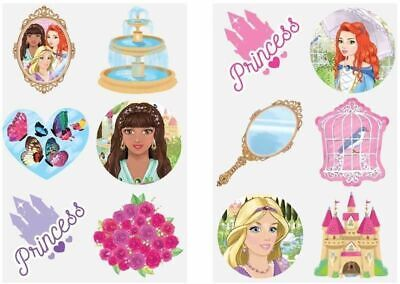 72 Childrens Princess Temporary Tattoos Kids Loot Party Bag Fillers Boys Girls