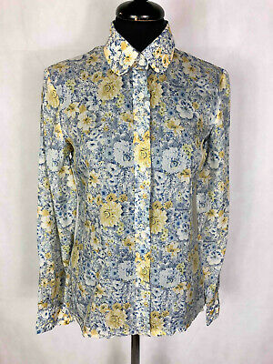 CACHAREL PARIS VINTAGE '80 Camicia Donna Fiori Flower Woman Shirt Sz.S - 40