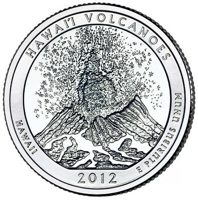 2012S HAWAII VOLCANOES America the Beautiful Quarter from US Mint Roll. Free S/H