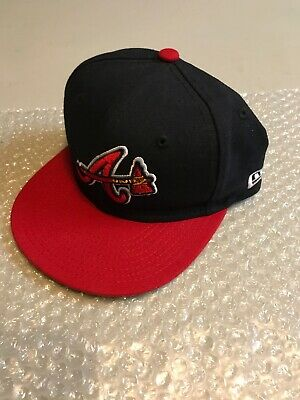 on sale 13ee0 1d915 Atlanta Braves New Era 59FIFTY Hat On-Field Cap MLB Fitted Size 6 3
