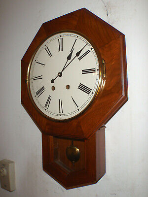Emperor Schoolhouse Regulator 8 Day Wall Clock Cherry Key Wound Hermle