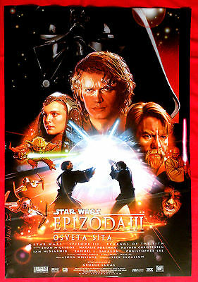 Star Wars Episode Iii Revenge Of Sith George Lucas Sci-Fi  Serbian Movie Poster