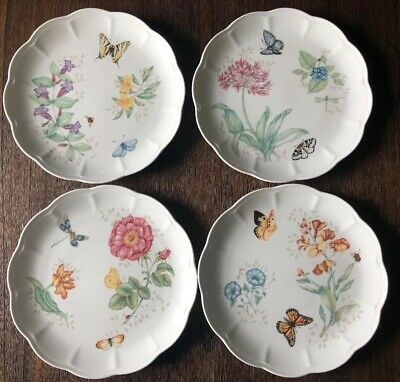 Lenox - Butterfly Meadow - Set of 4 Accent - Dinner Plates