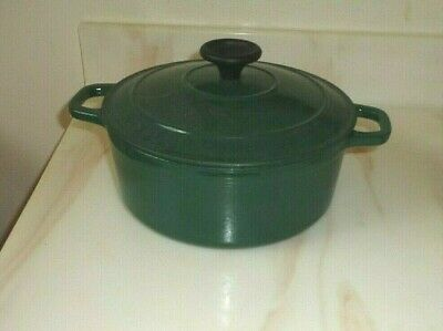 Chasseur Green Enameled Cast Iron Dutch Oven, 2 qt  Approx Made in France
