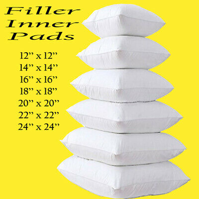 "Cushion Pads, Inserts, Fillers, Inners, Hollow Fibre Filled 12""14""16""18""20""22""24"