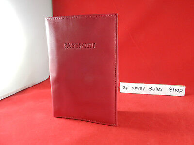 Genuine Pink leather passport cover.. US seller .. fast  shipping
