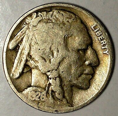 "1926-P 5C Buffalo Nickel, 18lsr1204-1 ""Only 50 Cents for Shipping"""
