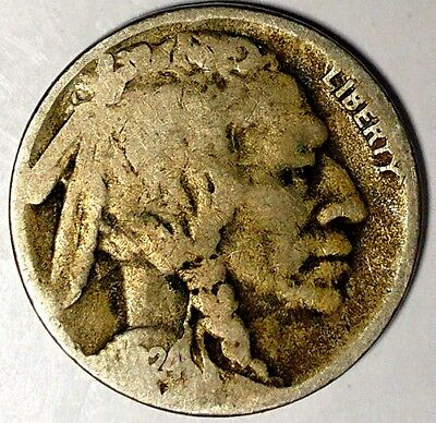 """1924-S 5C Buffalo Nickel, 18wct0904 """"Only 50 Cents for Shipping""""*"""