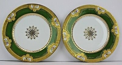 Antique French Limoges Decorative Plates Pair for J.E. Caldwell & Co. circa 1900