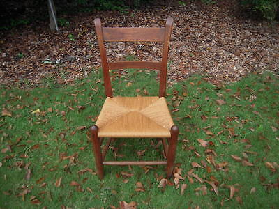 Rush Bottom Mule Ear Oak Farm / Student Chair #2 - Antique / Vintage