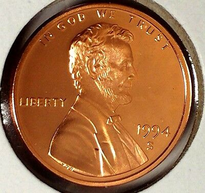 "1994-S 1C Lincoln Memorial Cent 17cl0401 ""Gem Proof""  Only 50 Cents for Shipping"