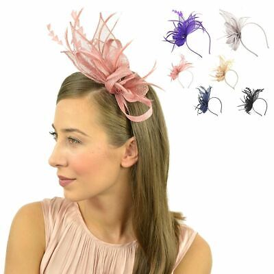 Flower Headband Sinamay Aliceband Fascinator Wedding Ladies Day Race Royal Ascot