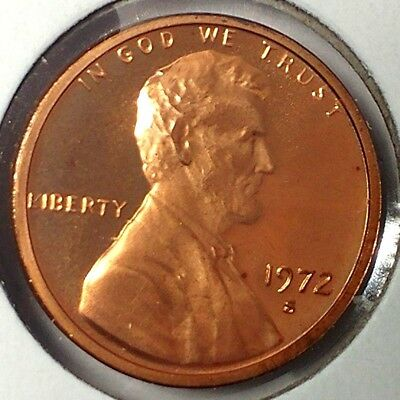 """1972-S 1C Lincoln Memorial Cent 18ct2801 """"Gem Proof""""  Only 50 Cents for Shipping"""
