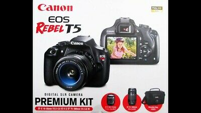 Canon EOS Rebel T5 18.0MP Digital SLR Camera - Black (Kit w/ EF-S 18-55mm Lens)
