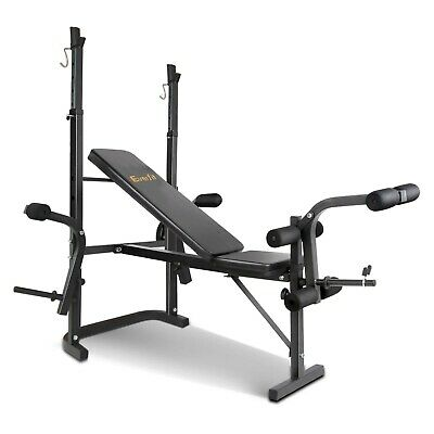 Multi-Station Weight Bench Press Curl Home Gym Weights Equipment Flat @SAV