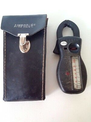 Ultra AMPROBE CLAMP METER & VOLT METER   with   original Case .Not Tested~AS-IS