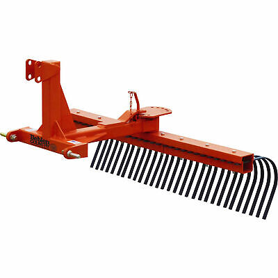 5' Rock Landscape Rake Attachment, Category 1 Pins; Category 0 Spacing, Lot of 1