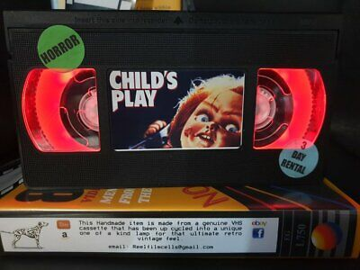 Retro VHS Lamp,Child's Play Chucky,Night Light!Amazing Gift Idea For a Mancave