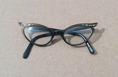 844c0ce3c08 VINTAGE SWANK RHINESTONE Cat Eye Glasses