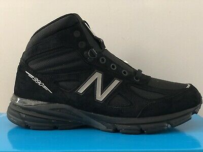 los angeles 9b9fe 0a78f NEW BALANCE 990 V4 Mid Boot MO990BK4 Men's Size 10.5 Made In USA Trail  Running