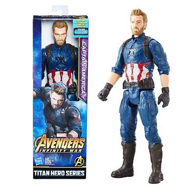 "Marvel Avengers Infinity War Titan Hero Series Captain America 12"" Action Figure"