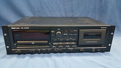 Tascam CD-A700 CD Player / Cassette Combination Deck, Ships Free