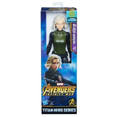 "Marvel Avengers Infinity War Titan Hero Series Black Widow 12"" Action Figure"