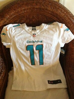 07ffd721 NIKE NFL MIAMI Dolphins Mike Wallace #11 Teal Jersey Size 44 ...