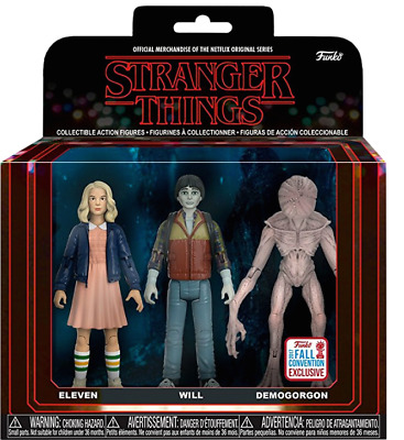 Stranger Things - Eleven, Will & Demogorgon US Exclusive Action Figure 3-pack