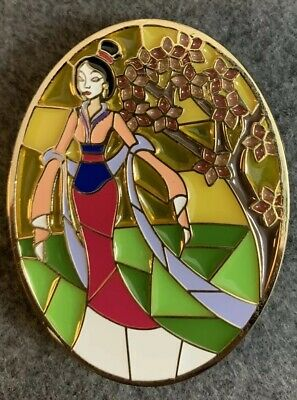 441d1203e5efc Mulan Stained Glass Cherry Blossom Disney Fantasy Pin LE /50 Flower Limited  HTF