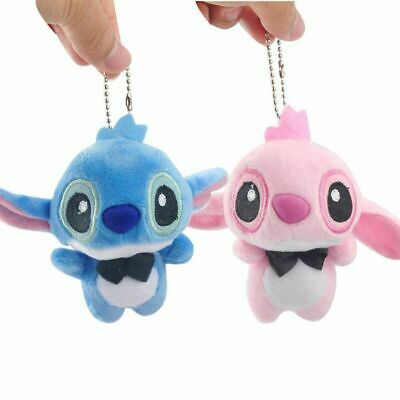 f21fd0fc27a Lilo   Stitch Plush Keychain Bell Bag Pendant Keyring Kids Accessories New  Gift