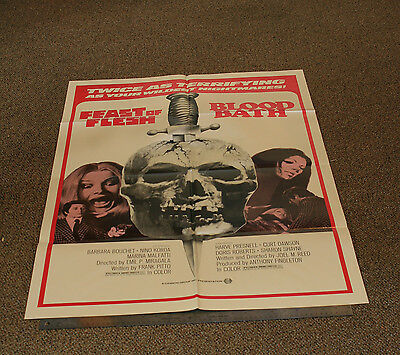 "FEAST OF FLESH / BLOOD BATH - RARE 1970'S MOVIE POSTER 27""x41"" - SCRAY HORROR -V"
