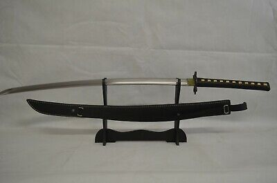 Handmade Extremely Sharp Carbon Steel Japanese Samurai Sword With Leather Sheath