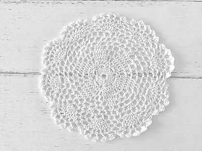 20 Cm New White  Crochet Lace Doily