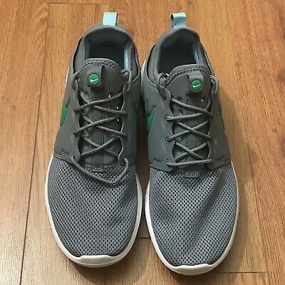 20f962d3bc56 Nike Roshe Two Sneakers Mens Running Shoes 844656-006 Gray Green Size 10.5