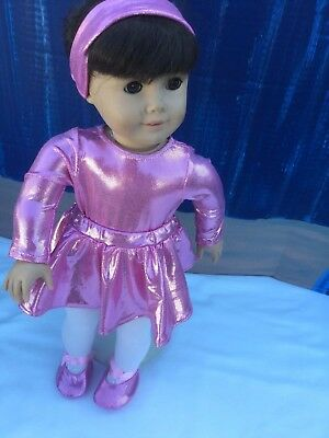 Doll Clothes A 5 Piece Ballerina Outfit Leotard, Tights,Tutu Shoes For 18 Inch