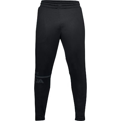 UA Under Armour Mens French Terry Tapered Pants XXL (2XL) Black 1306447 001