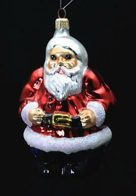 "Radko Hand Painted Glass Christmas Ornament ""The Clauses"" Double Sided Santa"