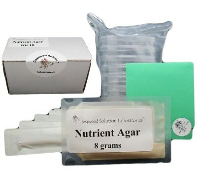 Nutrient Agar Kit- Yields 10, 100mm Petri Dishes - FREE SHIPPING!!!