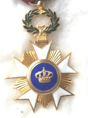 BELGIUM: ORDER OF CROWN, KNIGHT W/ROSETTE -- FROM 1960s ?