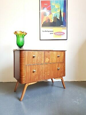 Walnut Vintage Mid Century Chest of Drawers -Delivery -London se15