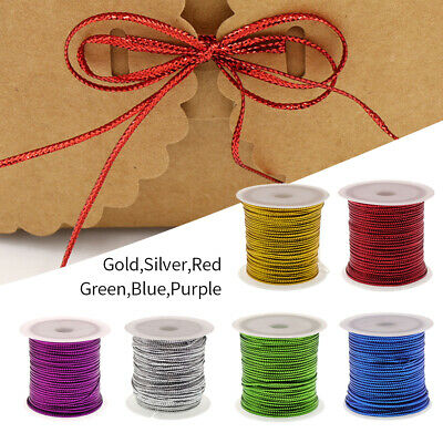 23 Meters 6 Colors Metallic Cord DIY Crafts Party Gift Wrapping String Decor LO