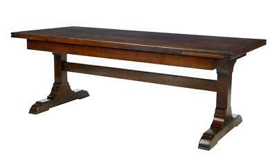 Fine English Made Oak Drawleaf Dining Table