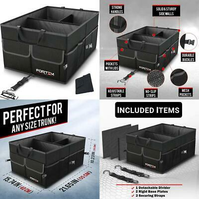 Car Trunk Boot Organiser For SUV Truck | Auto Durable Collapsible Cargo...