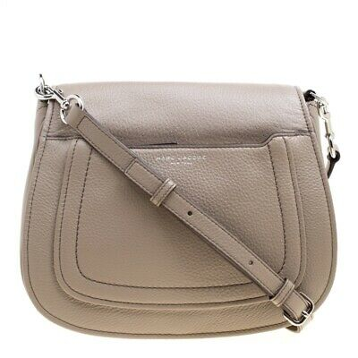5ba6a4db9397 Marc Jacobs Empire City Mini Messenger Leather Crossbody Bag Buff MSRP  325