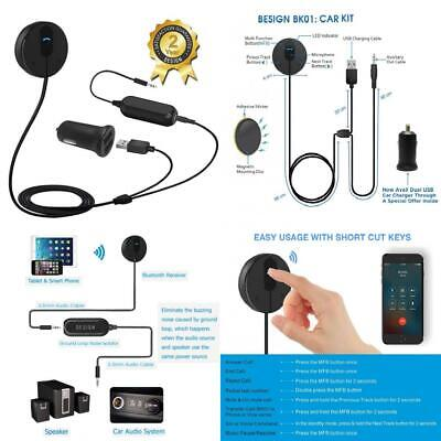 Besign BK01 Bluetooth 4.1 Car Kit for Hands-Free Talking & Music Streaming,...