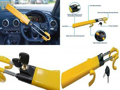 Streetwize SWTBL Twin Bar Steering Wheel Lock - Yellow, Heavy Duty Double...