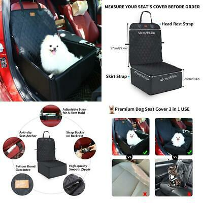 2 in 1 Thick Pet Car Booster Seat Waterproof Dog Single Front for Vehicle...