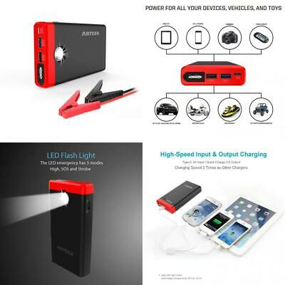 ARTECK Car Jump Starter Up To 4.0L Auto Battery Charger and 12000mAh...