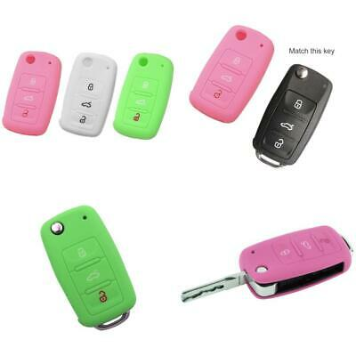 Nicky 3 x Protective Cover for VW SEAT SKODA GOLF 3-Buttons Car Key Silicone...